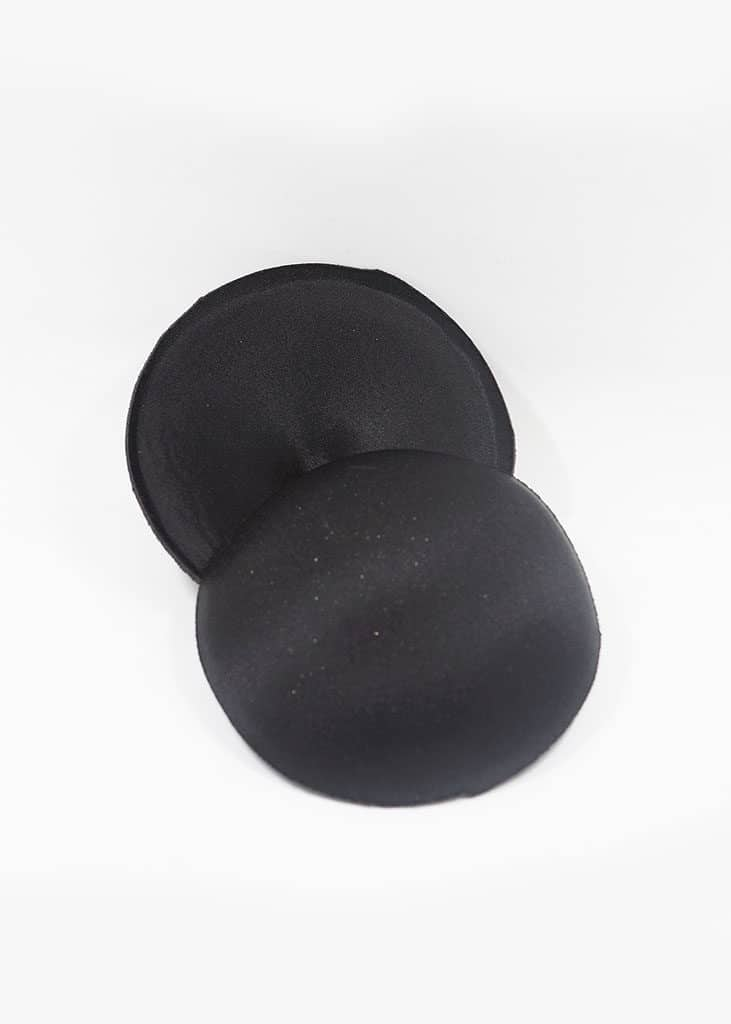 2cm bra pad black