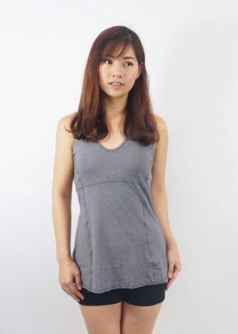 Port tank top padded grey 1