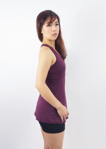 port tank top padded maroon 3