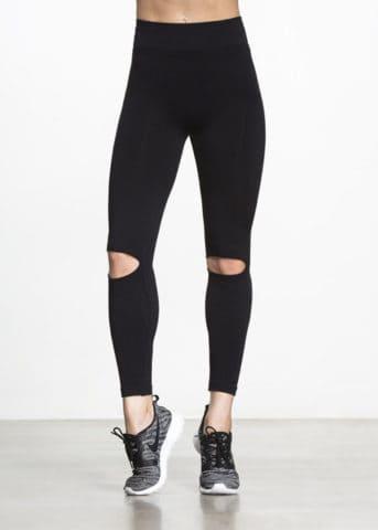 Aura Slit Black Active Pants