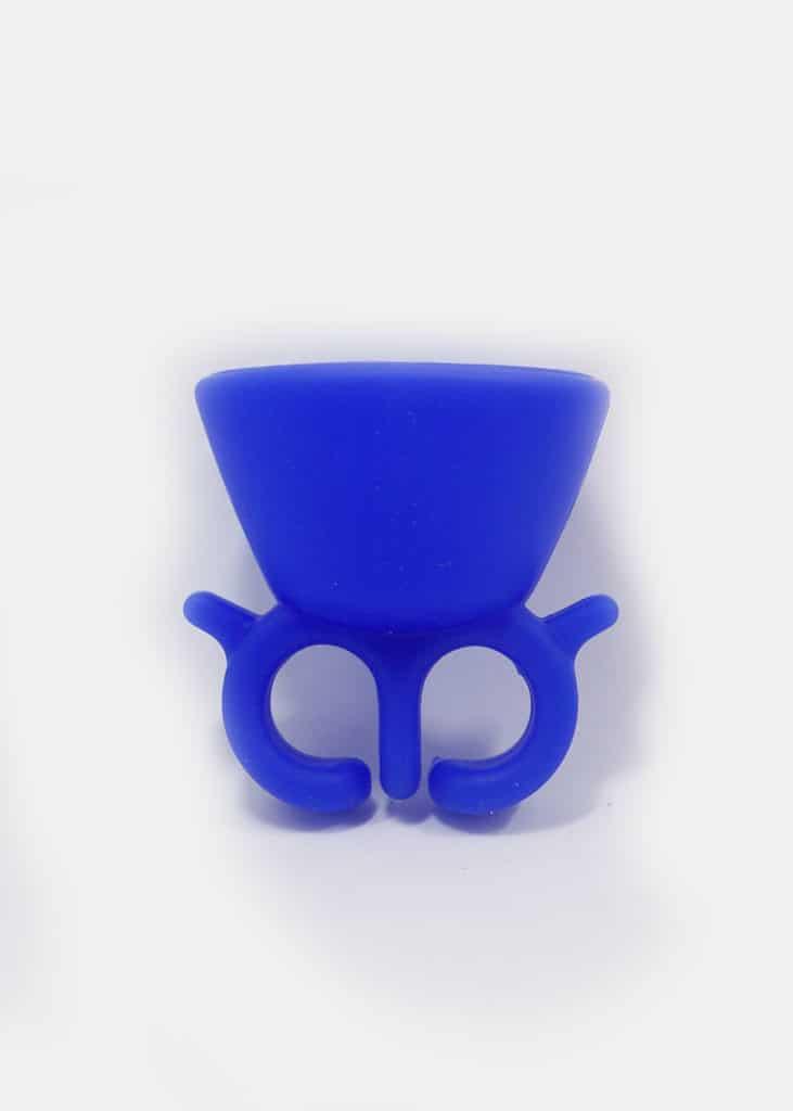 Nail polish holder blue