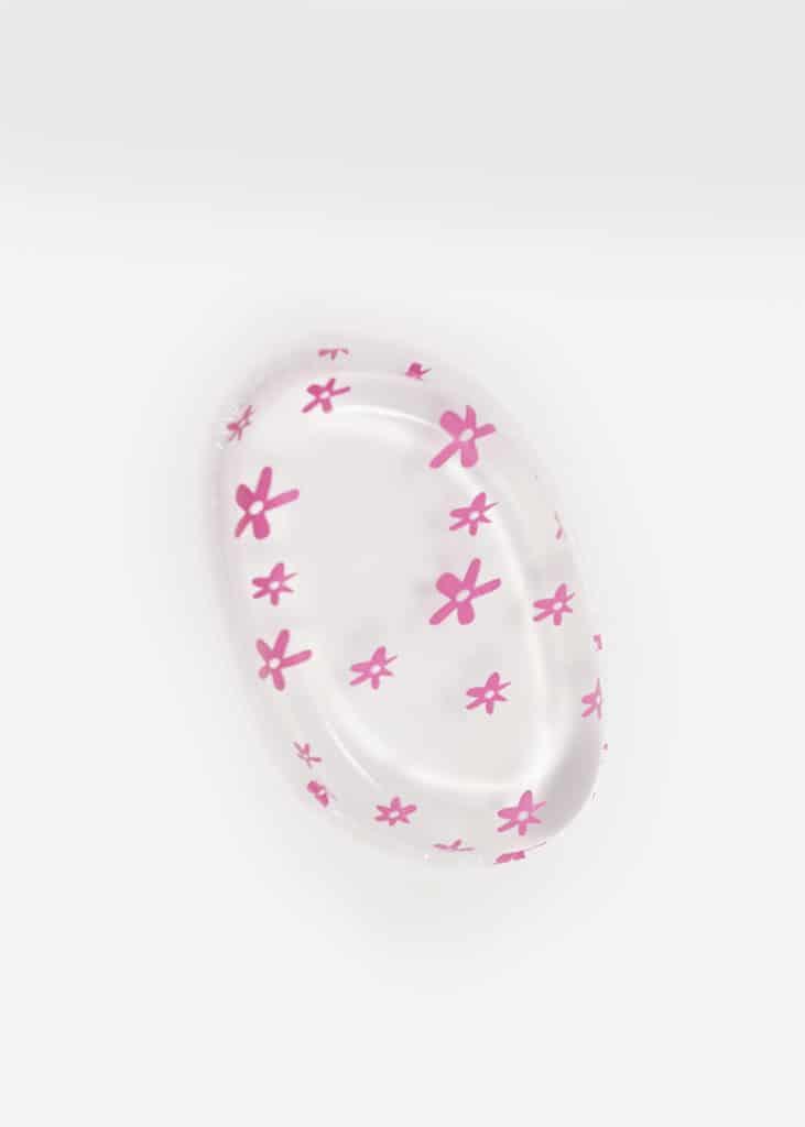 Oval jelly foundation sponge Pink Blossom 1
