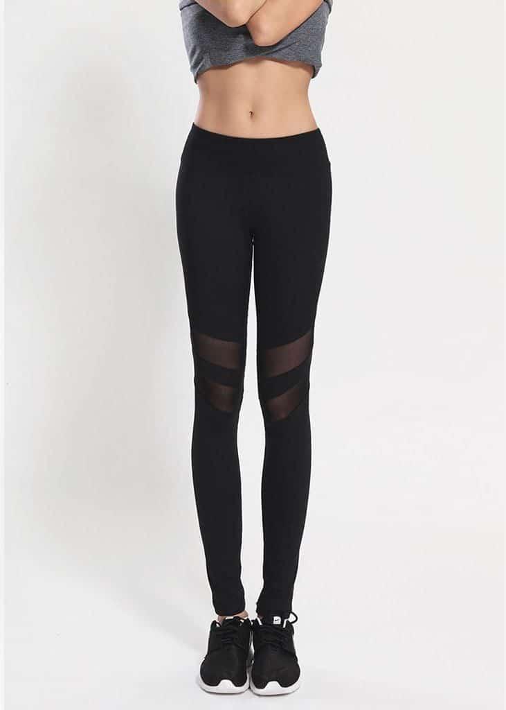 double mesh active pants black 2