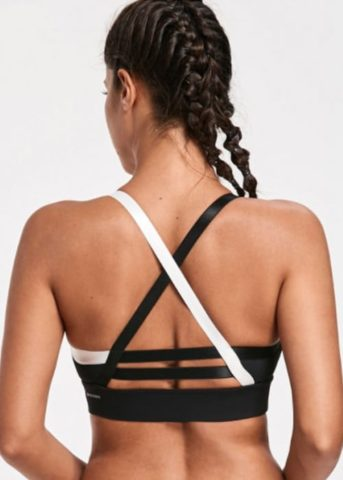 Hypegem Classic sports bra cross back black back