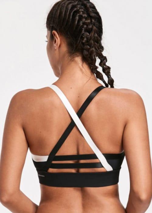 Hypegem Classic sports bra cross back black back
