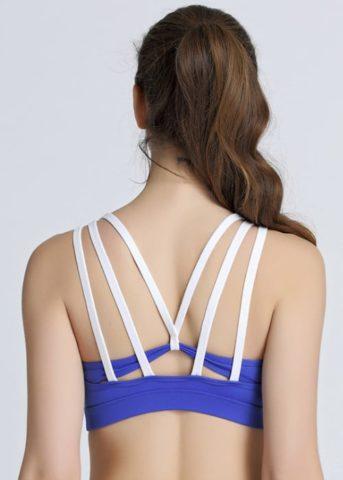 Hypegem Tiffany yoga bra blue back straight