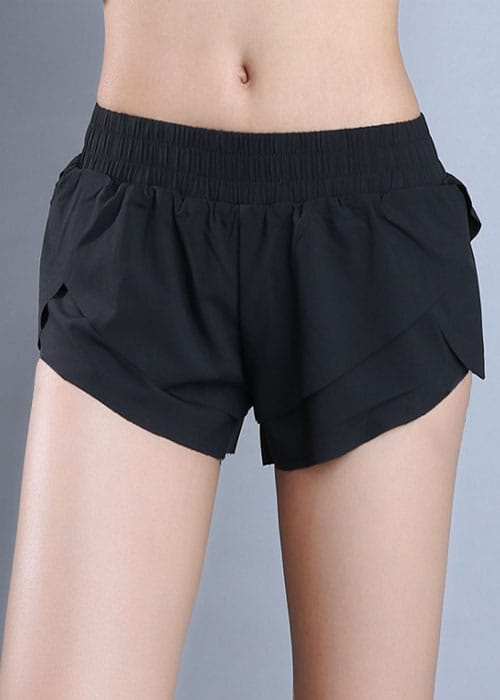 Petal Shorts Black Front