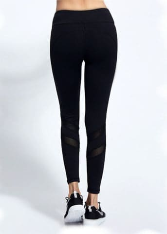 Swot Mesh Black Active Pants