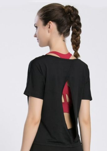 Bound Reveal Shirt Black