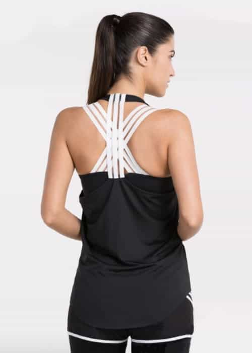 Colour Block Tank top black back