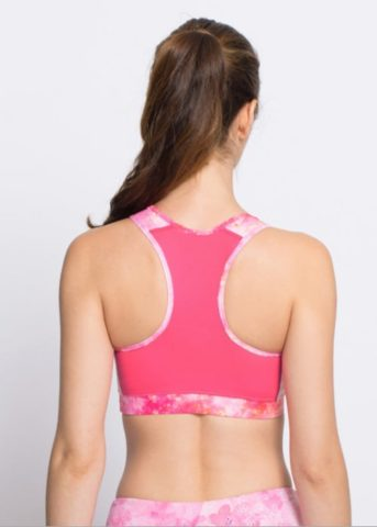 SHINE PINK Exercise Active Sports Bra womens