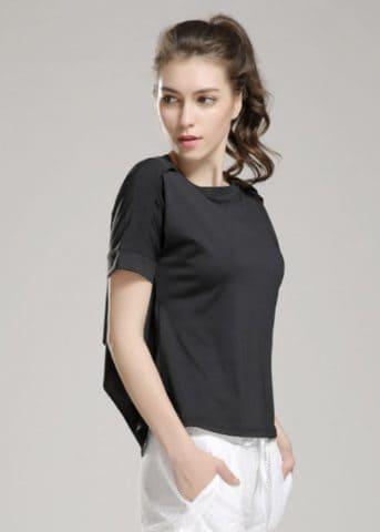 Flow Ribbon Loose shirt black