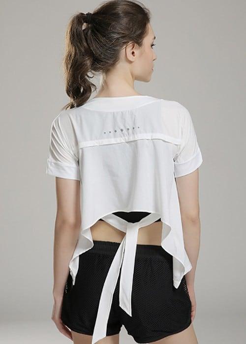 Ribbon Flow Dance Open Back Shirt   Hypegem.com