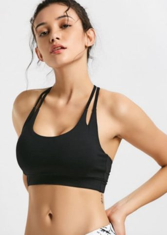 Hypegem TT sports bra black front