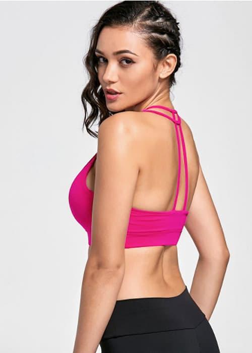 Hypegem TT sports bra pink side