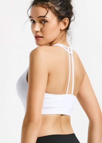 Hypegem TT sports bra white back