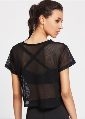 Hypegem active mesh shirt black