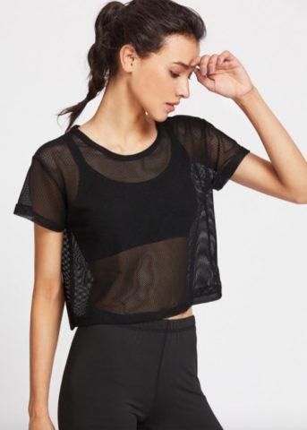 Hypegem active mesh shirt black