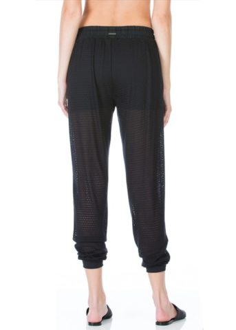 Pounce Perforated Jogger Loose Pants black front