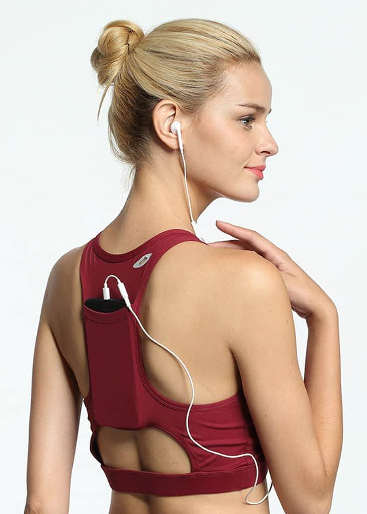 Back Pocket Elite Bra Red
