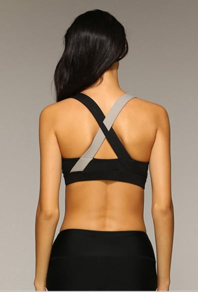 Rib sports bra black