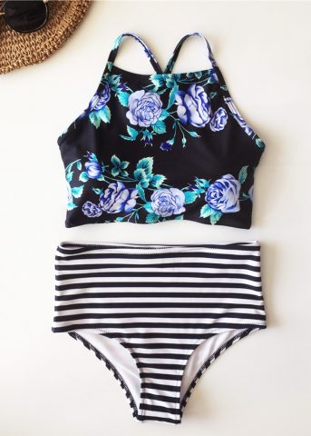 110 Blackforest high waist tank bikini3 front