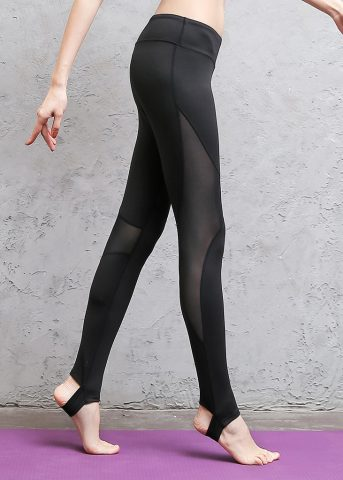Starry Mesh Stirrup Pants