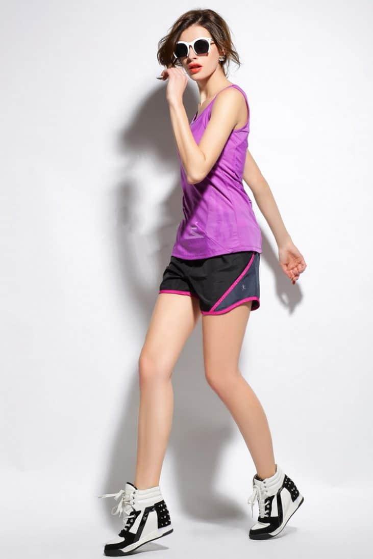 multi running shorts black