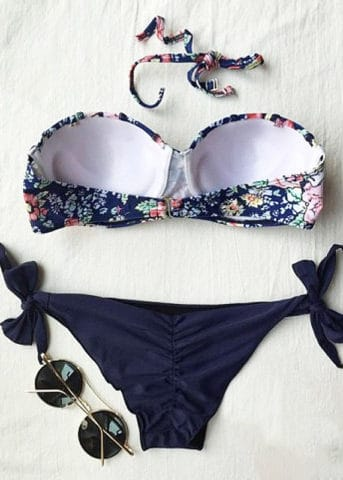 192 Bandeau Mermaid Bikini Navy 1