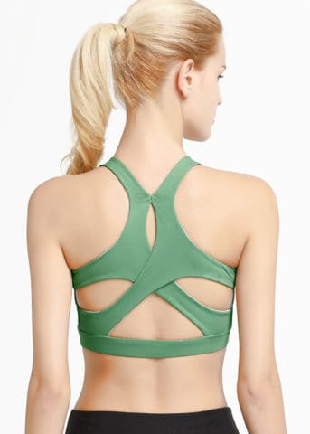 Hypegem Versace women Green Sports bra back