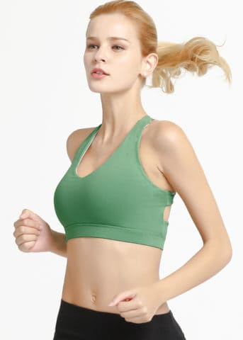 Hypegem Versace women Green Sports bra side