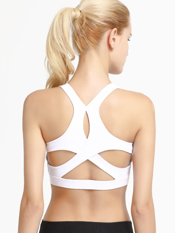 Hypegem Versace women White Sports bra back
