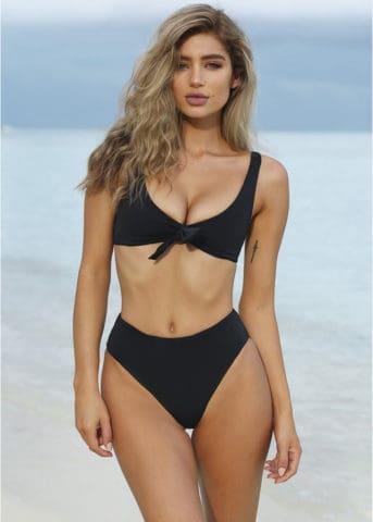 Malta bikini front tie black 5